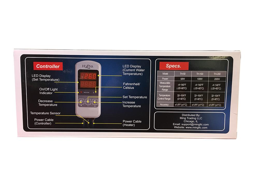H2Pro TH-50 (50W) Titanium Heater w/ Controller Gallery