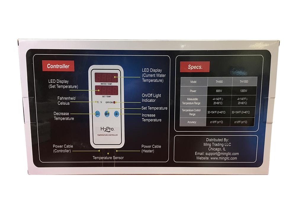 H2Pro TH-1000 (1000W) Titanium Heater w/ Controller Gallery